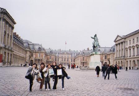 ベルサイユ宮殿にて